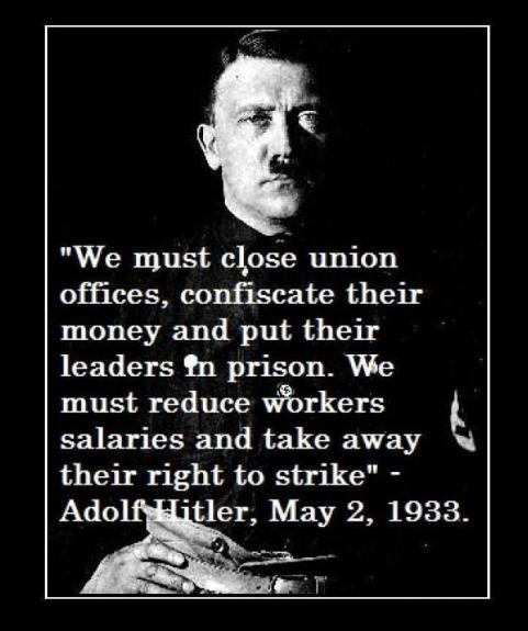 Hitler on Unions