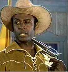 Cleavon Little with Gun